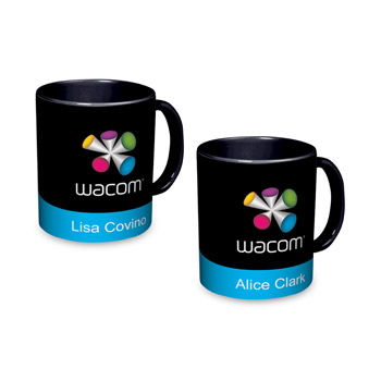 Black Individually Personalized Two-Tone 11 Oz. Mug