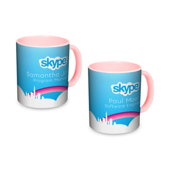 Pink Individually Personalized Two-Tone 11 Oz. Mug