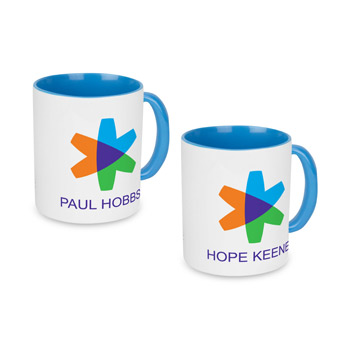 Blue Individually Personalized Two-Tone 11 Oz. Mug