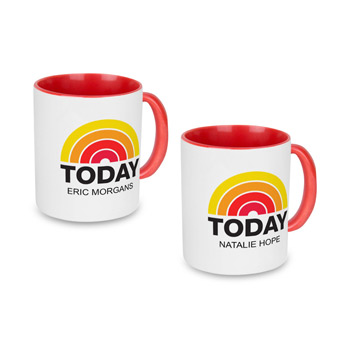 Red Individually Personalized Two-Tone 11 Oz. Mug